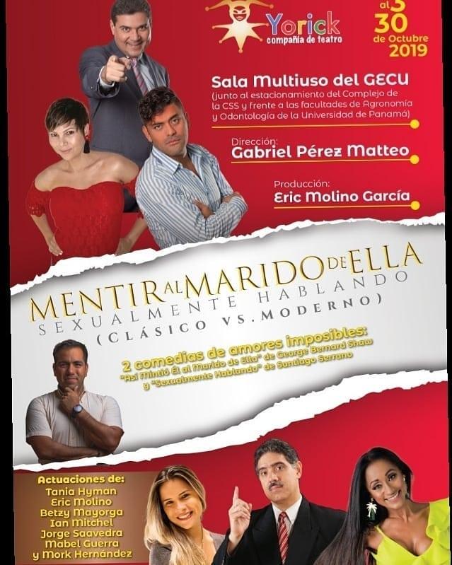 Photo of Disfruta de la obra «Mentir Al Marido De Ella» en Gecu (Universidad de Panamá)