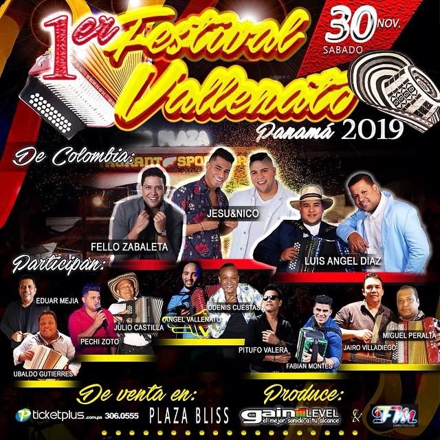 Photo of Este 30 de noviembre ven y celebra el 1er. Festival de Vallenato en Panamá