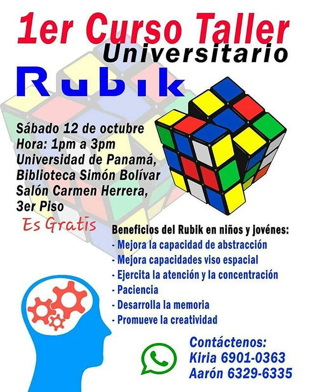 Photo of ¡Atención! 1er Curso Taller Universitario Rubik en la Universidad de Panamá