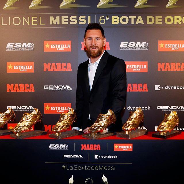 Photo of Leonel Messi recibe su sexta Bota de Oro