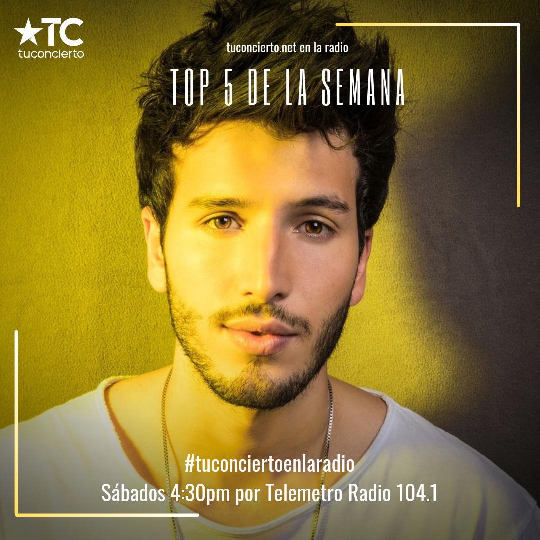 Photo of Sebastián Yatra en el #Top5 de la semana en Tuconcierto en la radio