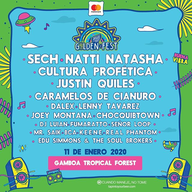 Photo of Golden Fest 2020 presenta los artistas que estarán en el Gamboa Tropical Forest