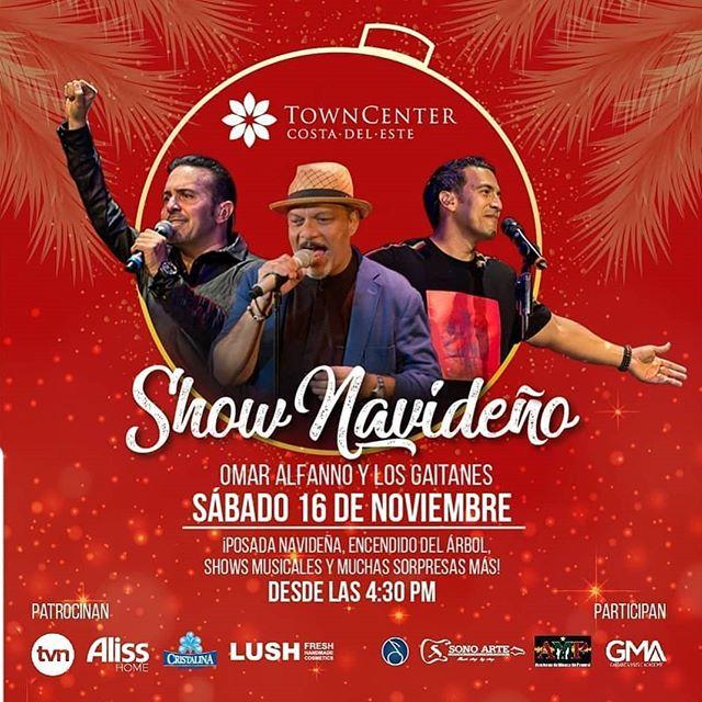 Photo of Town Center presenta 'Show Navideño' con la presentación de Omar Alfanno y Los Gaitanes
