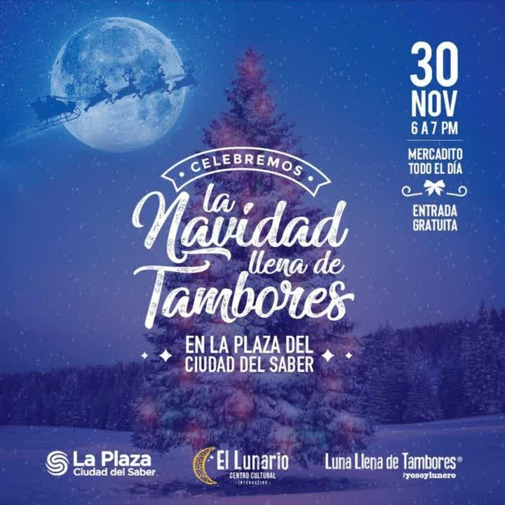 Photo of ¡Atención! La Plaza de la Ciudad del Saber presenta 'La Navidad Llena de Tambores'