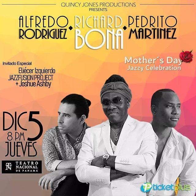 Photo of Alfredo Rodriguez, Richard Bona y Pedrito Martinez en concierto en Panamá