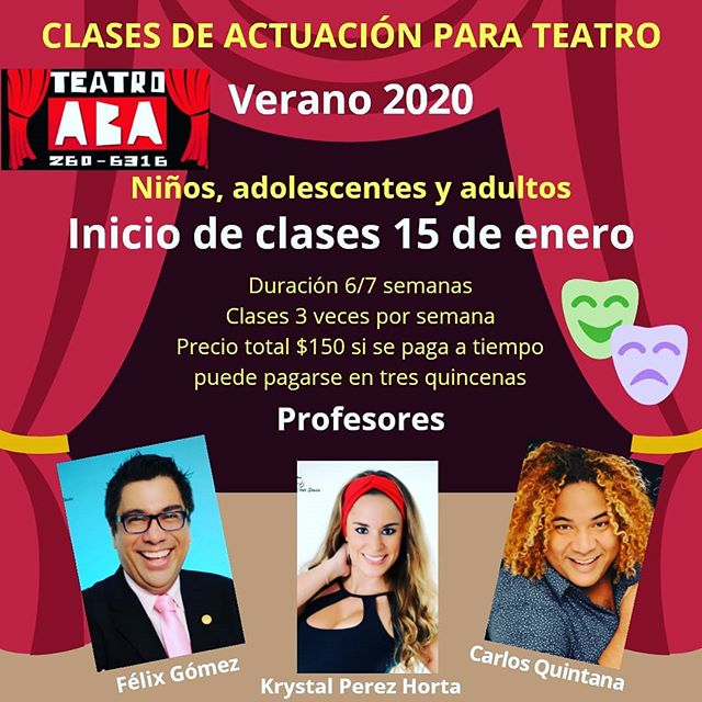 Photo of Teatro Aba presenta «Clases de Actuación Verano 2020»
