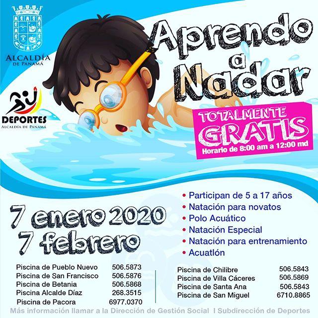 Photo of La alcaldía de Panamá y deportes anuncian Cursos de Natación ¡Totalmente gratis!