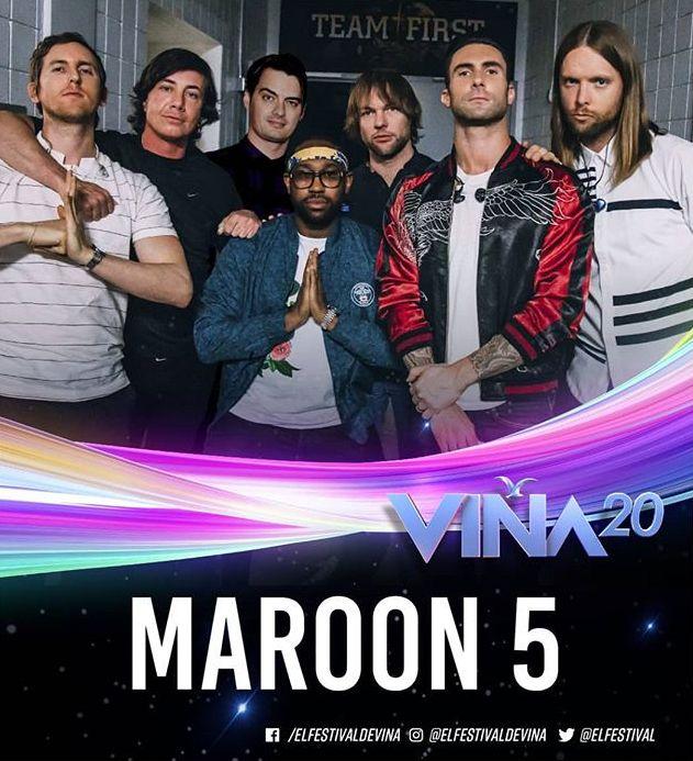 Photo of ¡Confirmado! Maroon 5 para el Festival de Viña 2020