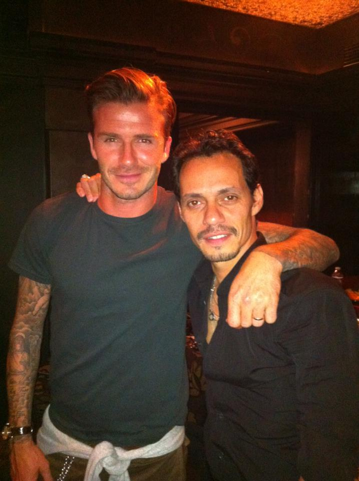 Photo of David Beckham presente en el concierto de Marc Anthony en Panamá