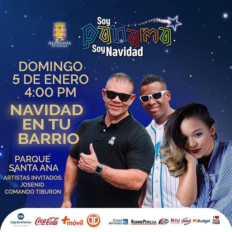 Photo of ¡Panamá está de fiesta! Comando Tiburón y Josenid en concierto este 5 de enero en el Parque de Santa Ana