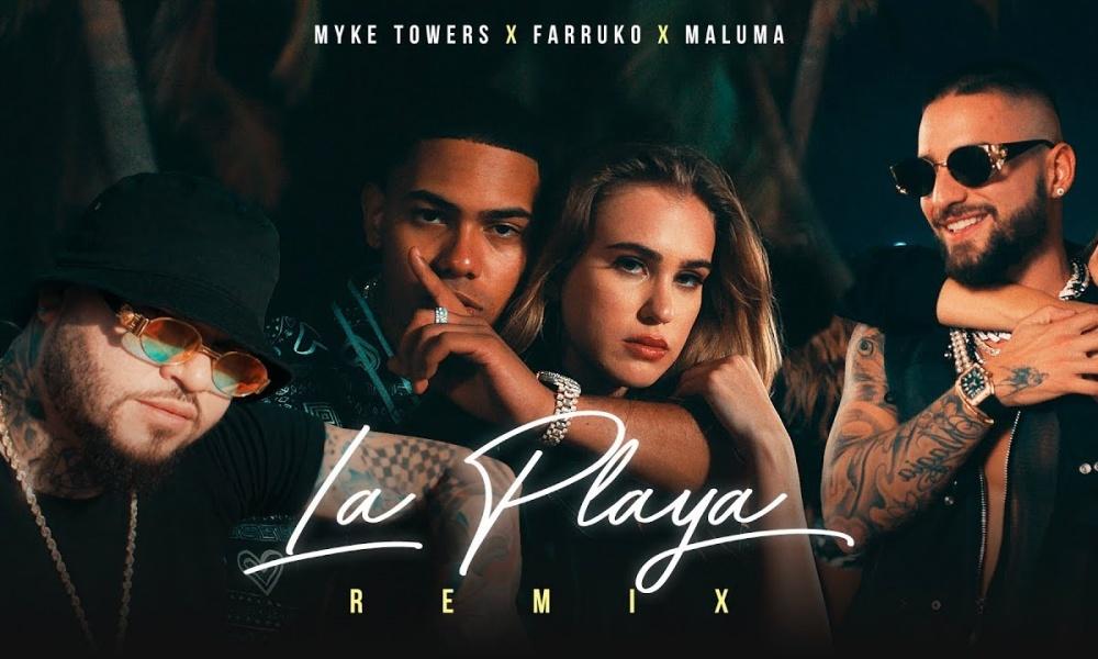 Photo of Myke Towers, Maluma y Farruko presentan 'La Playa' Remix