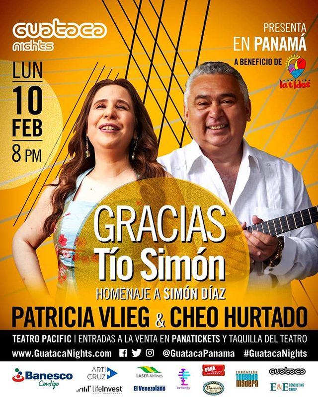 Photo of Guataca Panamá presenta a «Patricia Vlieg & Cheo Hurtado» en concierto