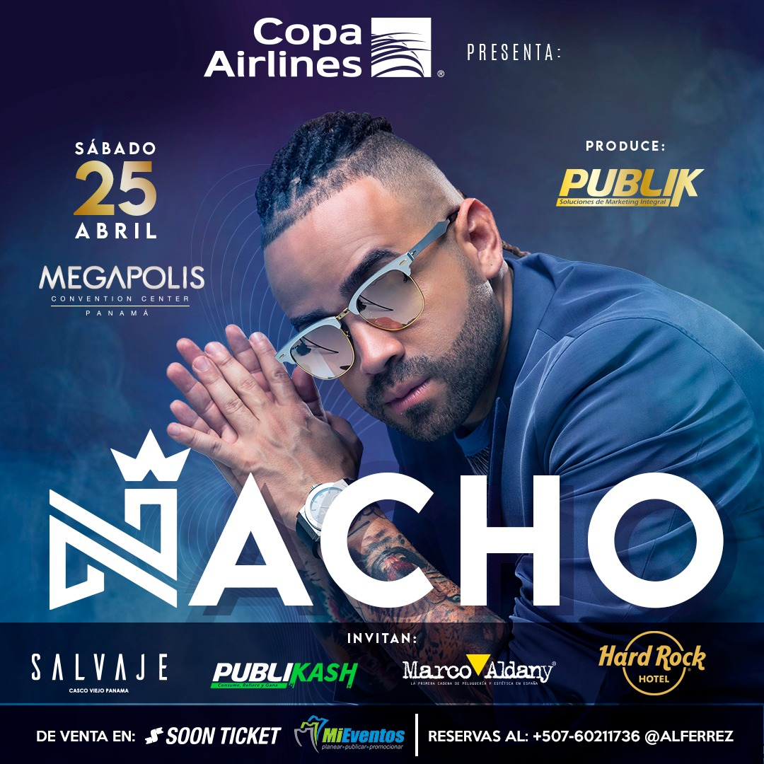 Photo of A la venta boletos para el concierto de Nacho en el Hard Rock Hotel Megapolis Convention Center