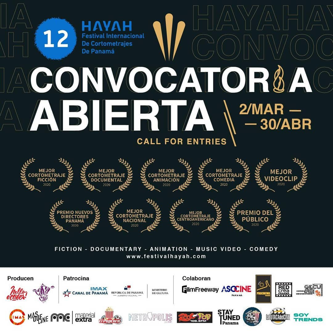 Photo of Convocatoria Abierta para el 12 Hayah Festival Internacional de Cortometrajes de Panamá