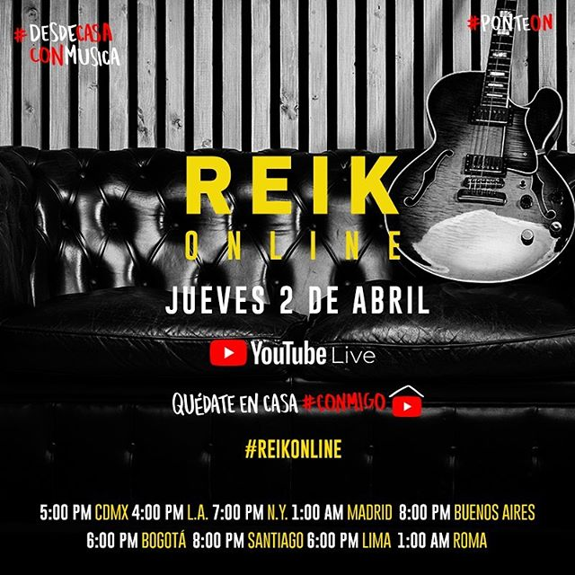 Photo of Concierto Live de Reik en su canal de YouTube
