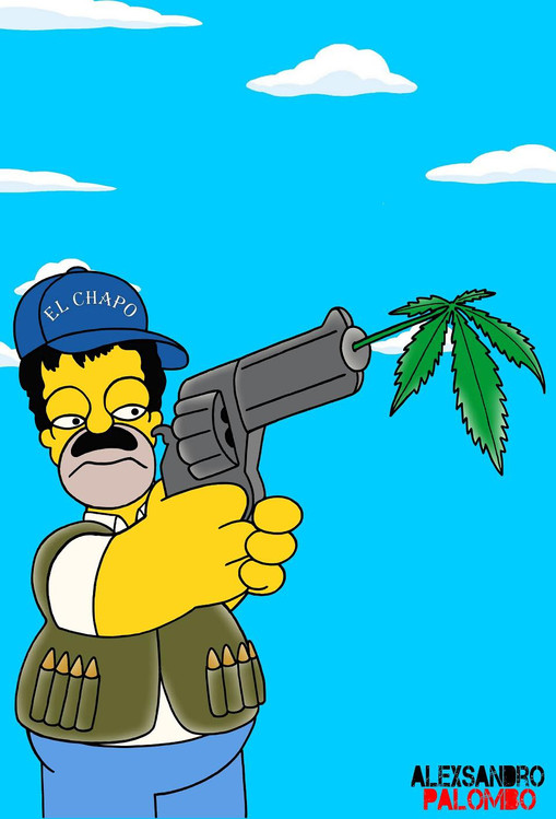 Photo of «El Chapo» llegó a Los Simpson (+ Fotos)