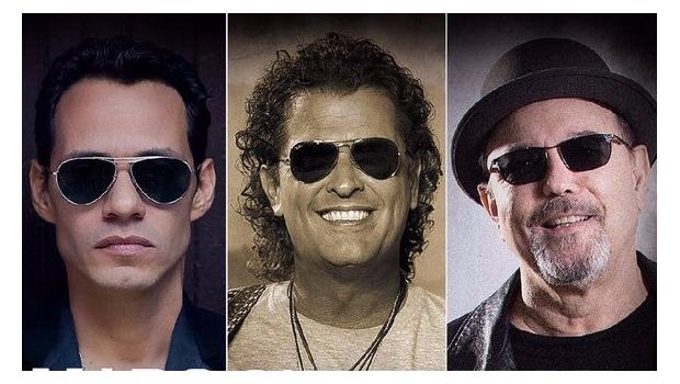 Photo of Rubén Blades, Carlos Vives y Marc Anthony