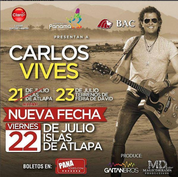 Photo of Se abre una segunda fecha de Carlos Vives en Panamá