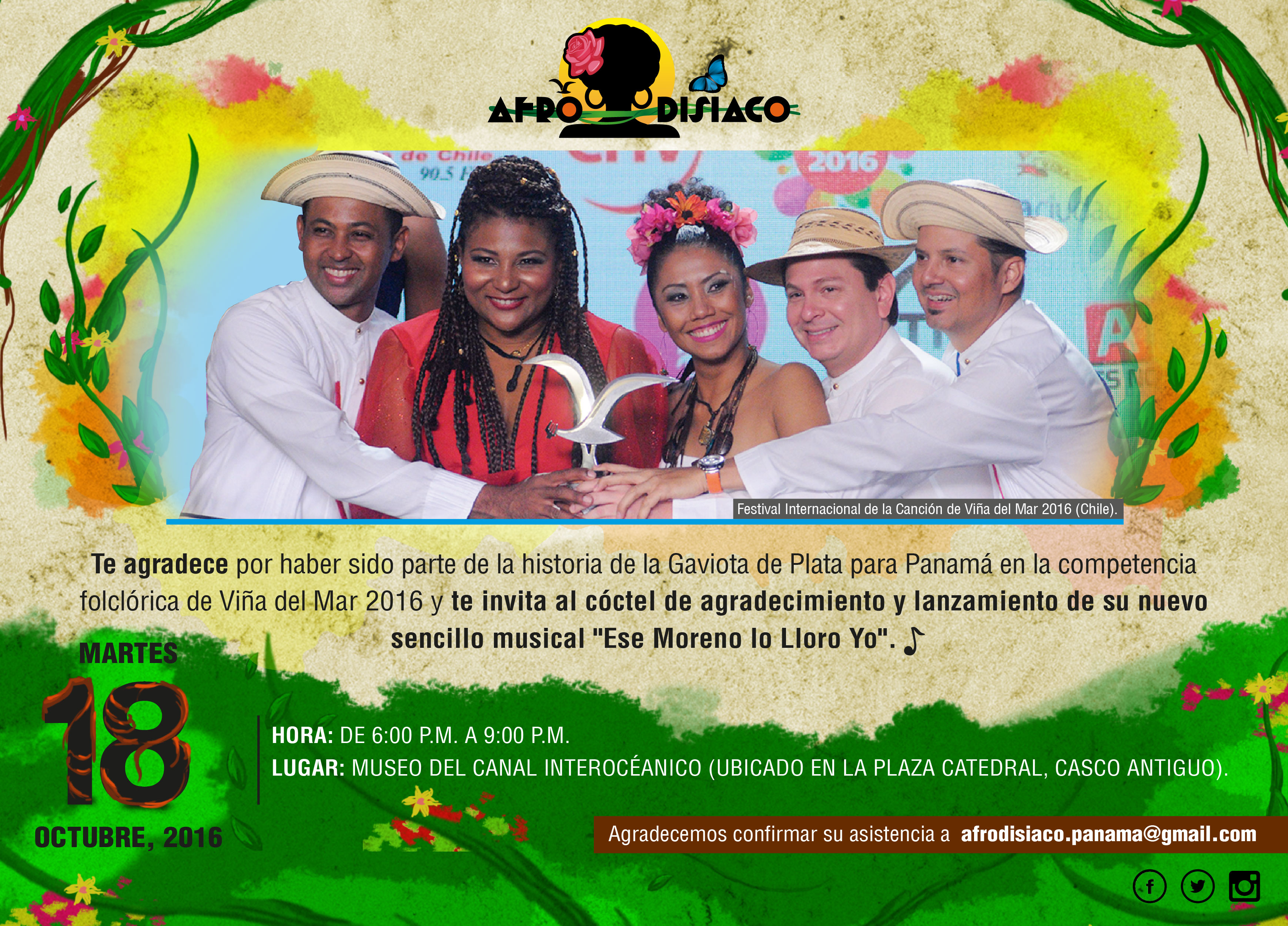 Photo of Conferencia de prensa Grupo Afrodisiaco