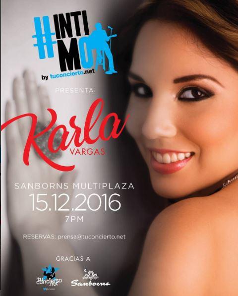 Photo of Karlas Vargas estará en #IntimoTuconcierto