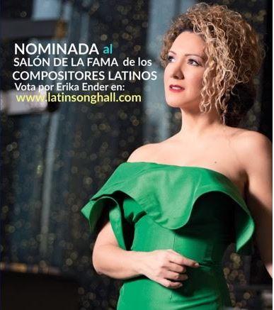 Photo of Erika Ender nominada al salón de la fama de los Compositores Latinos