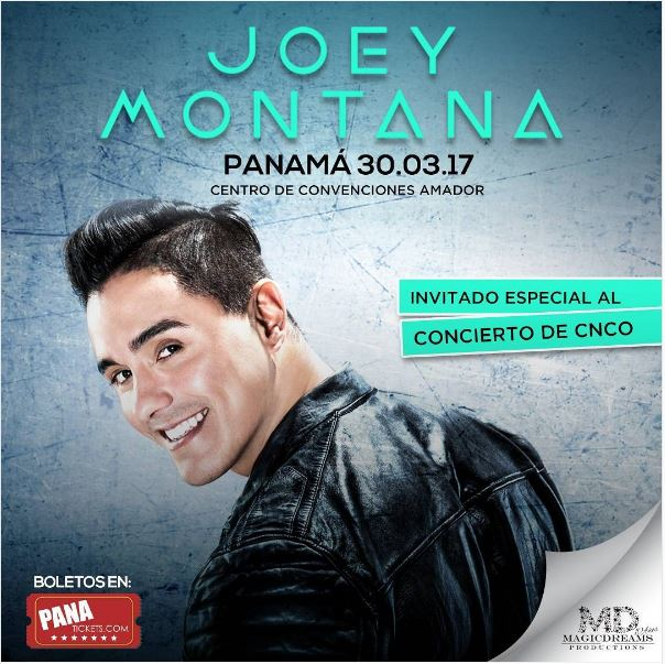 Photo of Joey Montana este 30 de marzo en Panamá