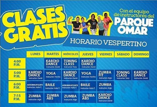 Photo of Clases gratis en el Parque Omar