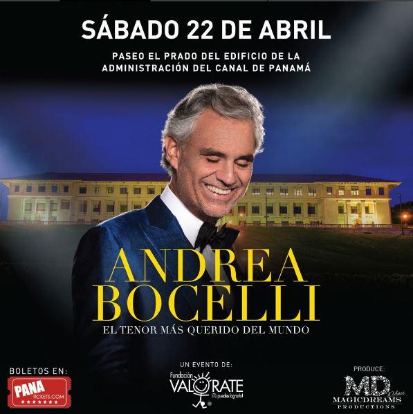 Photo of Andrea Bocelli sorprenderá a Panamá en abril