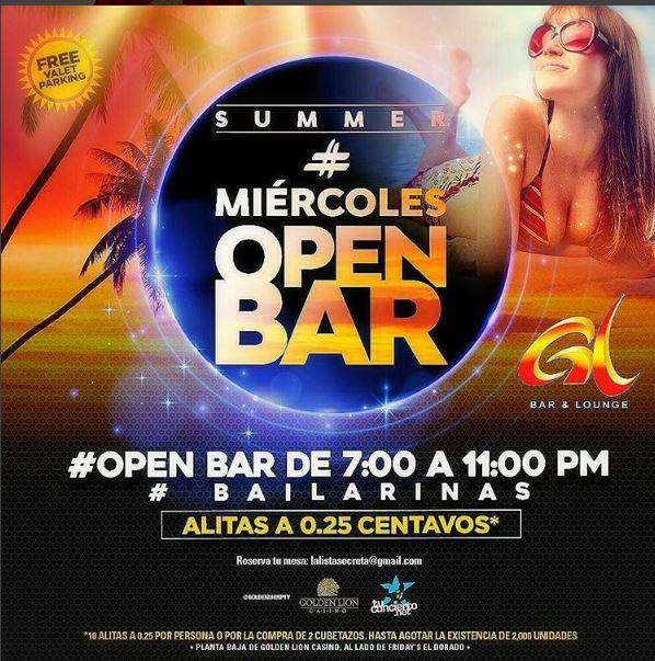 Photo of Esta noche 'Miércoles Open bar en Golden Lion'