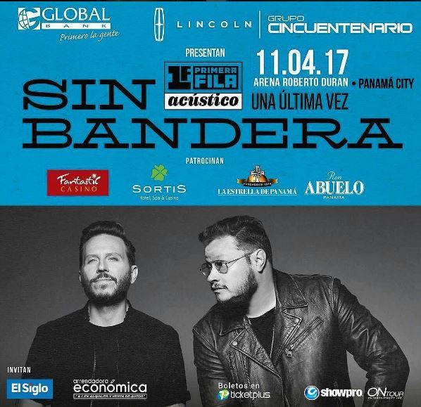 Photo of Dinámica para ganar 2 boletos al concierto de Sin Bandera