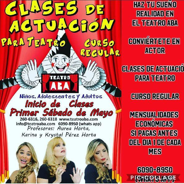 Photo of Clases de actuación en Teatro Aba