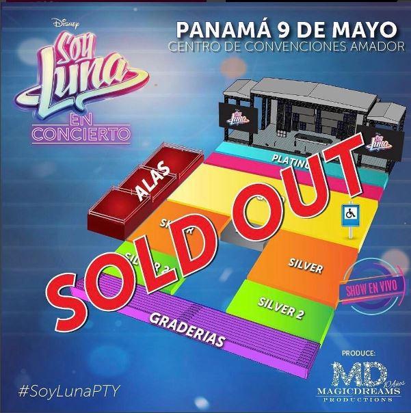 Photo of Sold Out para el concierto de 'Soy Luna' en Panamá