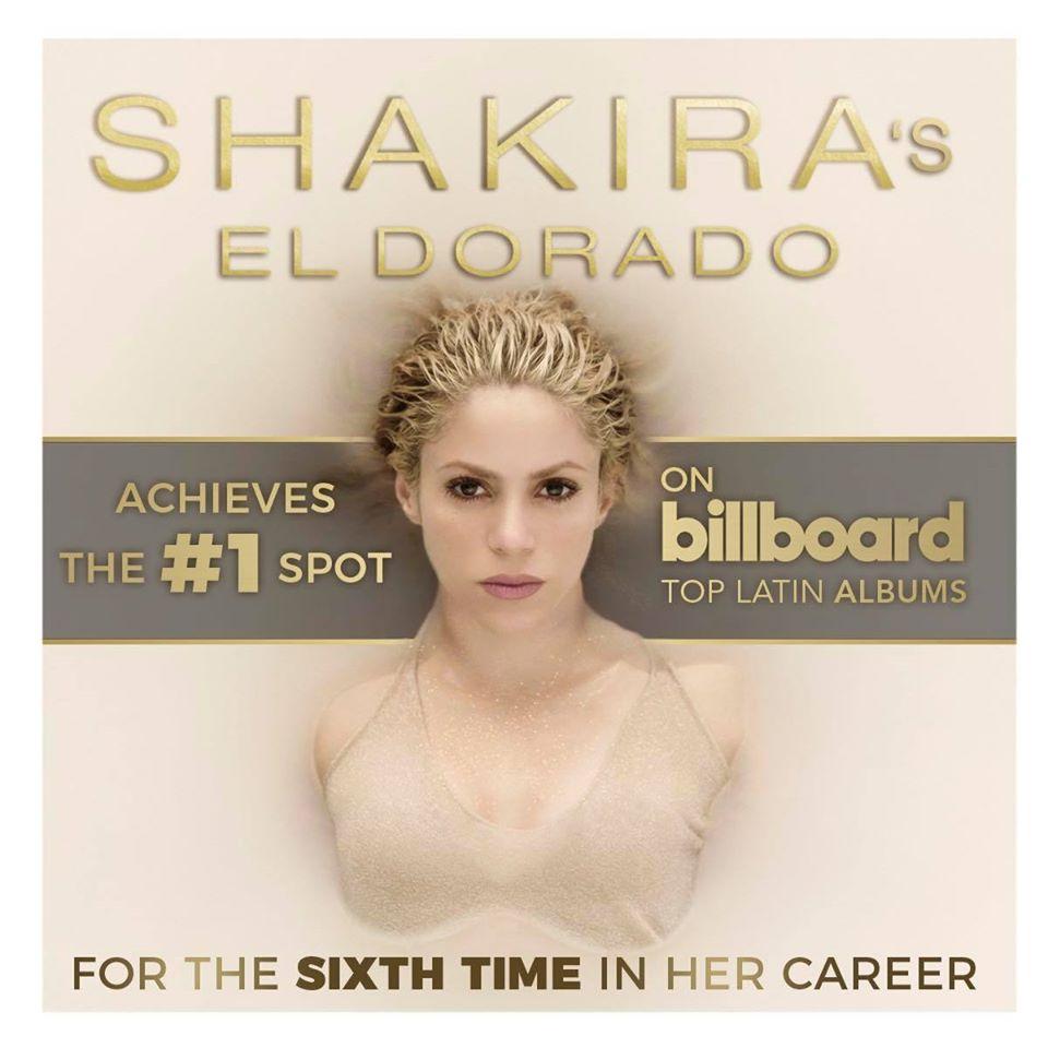Photo of Shakira hace su álbum 'El Dorado' Nº 1 en Latín Billboard