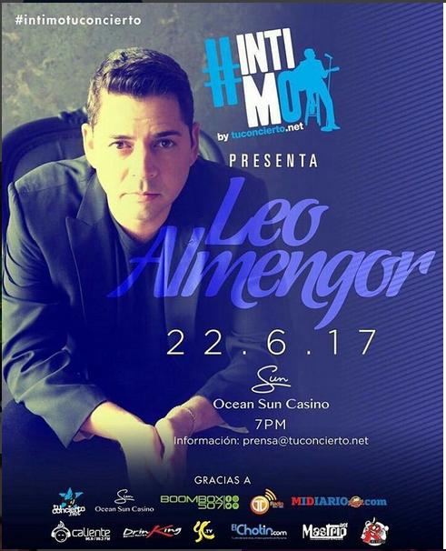 Photo of Esta noche el cantante Leo Almengor estará en #intimoTuConcierto