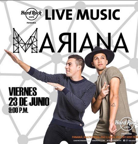 Photo of El grupo Mariana estará esta noche en el Hard Rock Cafe Panamá