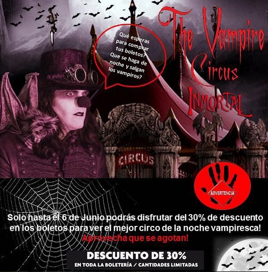 Photo of El Vampire circus inmortal