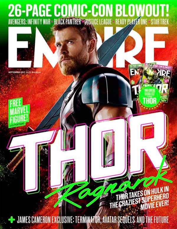 Photo of 'Thor: Ragnarok' en la portada de la revista Empire