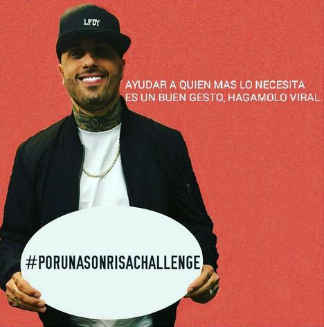 Photo of Nicky Jam inicio el reto Por Una Sonrisa Challenge