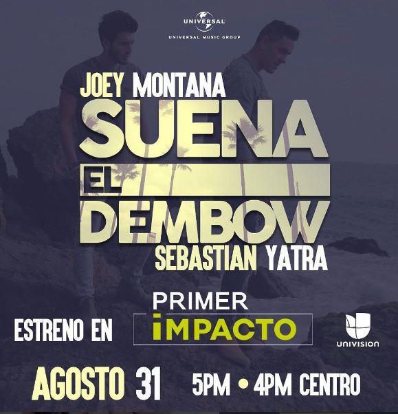 """Photo of """"Suena El Dembow"""" de Joey Montana en estreno en Primer Impacto"""