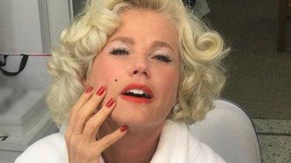 Photo of Mira como luce Xuxa personificando a Marilyn Monroe a sus 54 años