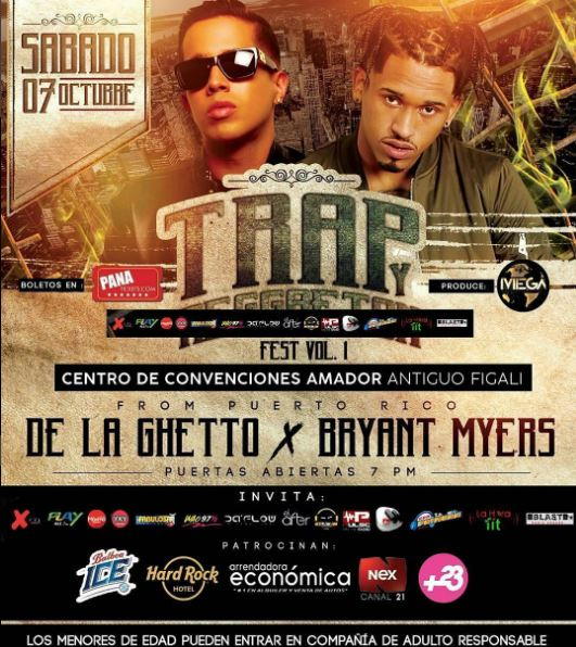 Photo of De la Guetto y Bryant Myers en Panamá
