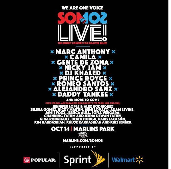 Photo of Marc Anthony, Jennifer Lopez y Alex Rodríguez juntos en el 'Somos Live!'