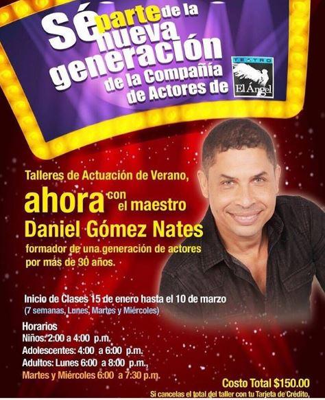 Photo of Talleres de actuación con Daniel Gómez Nates