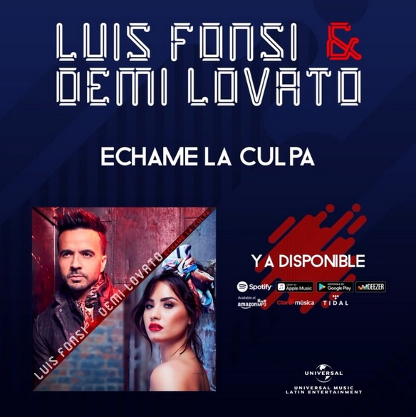 Photo of Luis Fonsi y Demi Lovato estrena 'Échame la culpa'