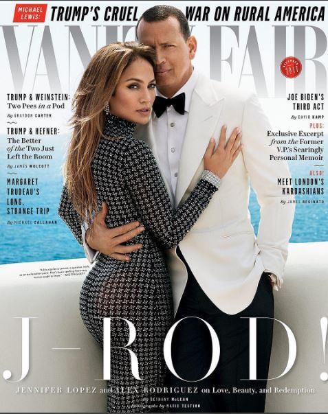 Photo of Jennifer López y Alex Rodríguez en la edición de diciembre de la revista Vanity Fair