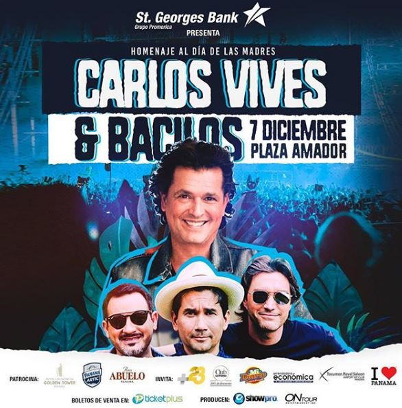 Photo of Carlos Vives esta noche en Panamá