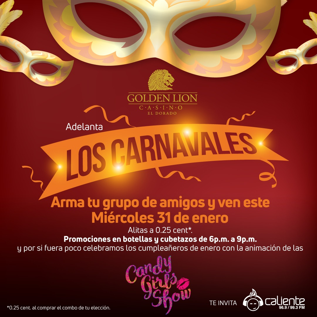 Photo of Adelanta los carnavales en Golden Lion