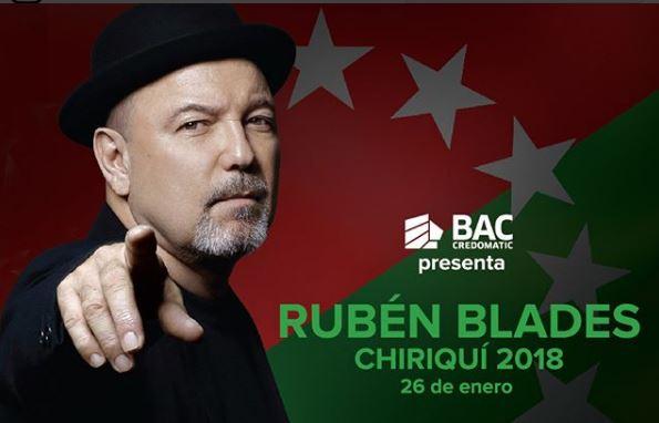Photo of Rubén Blades te invita a su concierto en Chiriquí