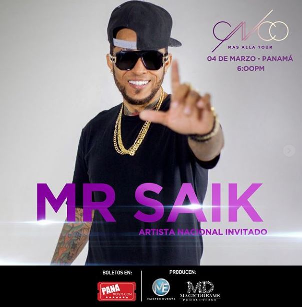 Photo of Mr. Saik es el artista invitado en el concierto de CNCO Panamá