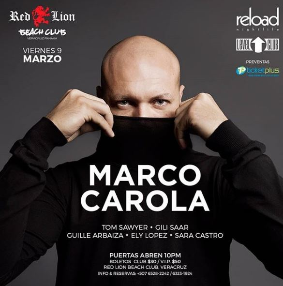 Photo of Marco Carola estará en Panamá